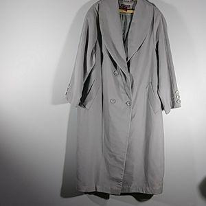 JESSICA LONDON  gray lined wool blend coat Sz 20P